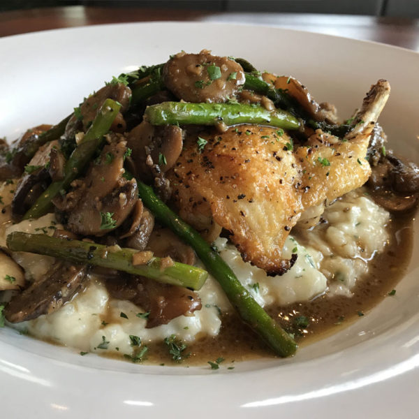 Chicken Marsala with Mushrooms and Asparagus